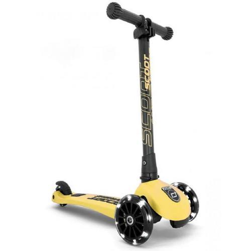 Самокат Scoot and Ride серии Highwaykick-3 со светящимися колесами лимон, 3-6 лет/50кг
