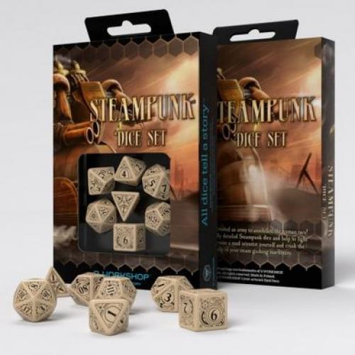 Набор кубиков Steampunk Beige & black Dice Set