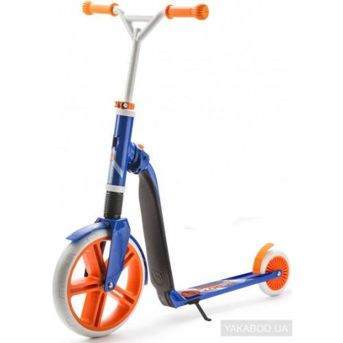 Самокат серии Highwaygangster белый/синий/оранжевый, от 5 лет, макс 100кг