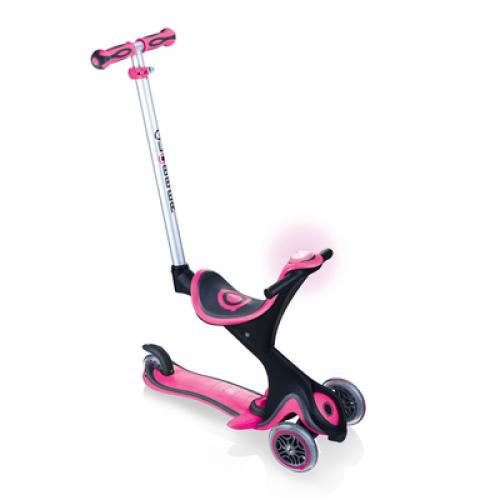 Самокат GLOBBER серии GO UP COMFORT PLAY 5 в 1 розовый, до 20/50кг, 1+, 3 колеса