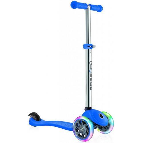 Самокат GLOBBER серии PRIMO LIGHTS, синий, колеса с подсветкой, до 50кг, 3+, 3 колеса