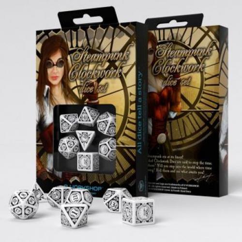 Набор кубиков Steampunk Clockwork white/black