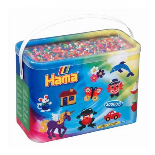 Термомозаика HAMA Набор цветных бусин, 30.000 шт, 22 цвета, MIDI 5+