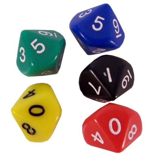 Кубик D10(0-9) (цвет в ассортименте)