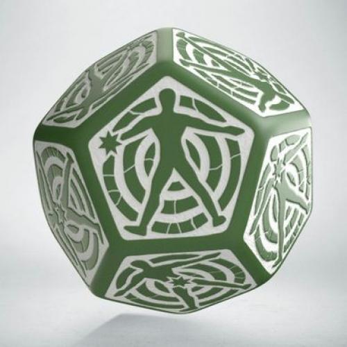 D12 Кубик Green & white Hit Location die