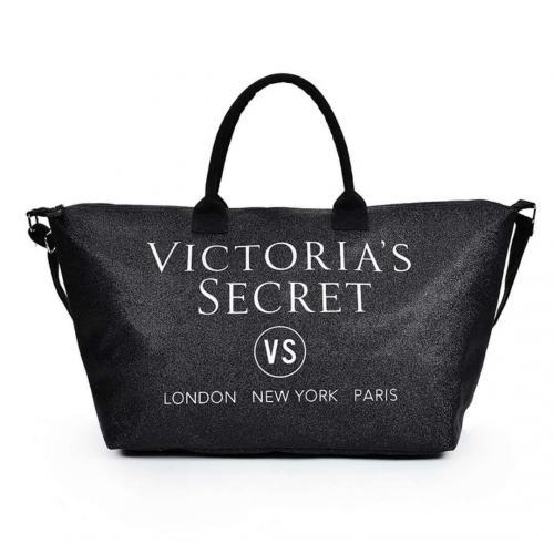 Сумка пляжная / спортивная / дорожная Виктория Сикрет (Victoria's Secret) Limited edition silver tote VS23