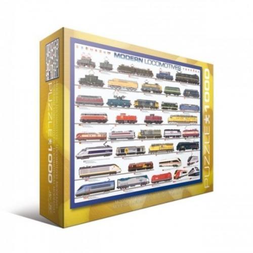 Пазл Eurographics Современные локомотивы, 1000 элементов
