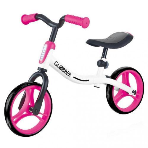 Беговел GLOBBER серии GO BIKE, белый-розовый, до 20кг, 2+, 2 колеса