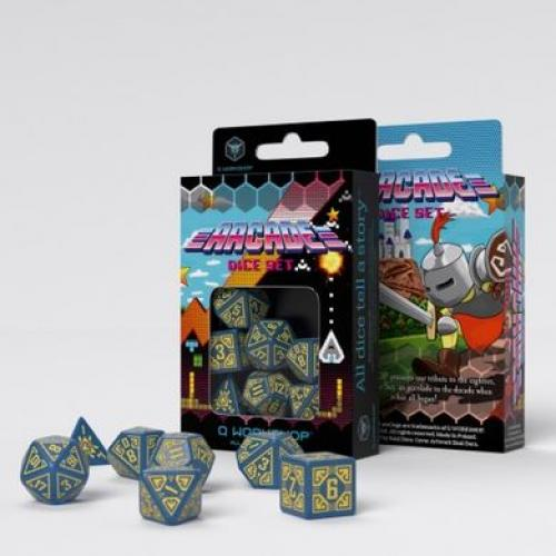 Набор кубиков Arcade Blue & yellow Dice Set