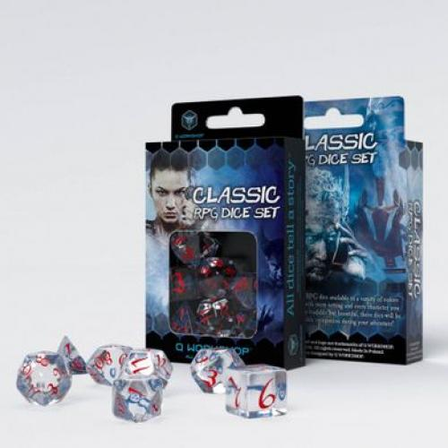 Набор кубиков Classic RPG Translucent & blue-red Dice Set