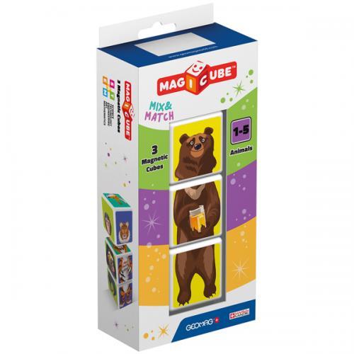 Geomag MAGICUBE Animals 3 cubes | Магнитные кубики Животные