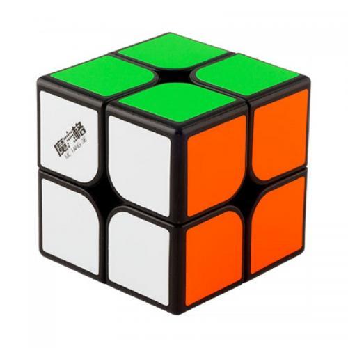 QiYi WuXia 2x2 black   Кубик 2х2 с наклейками