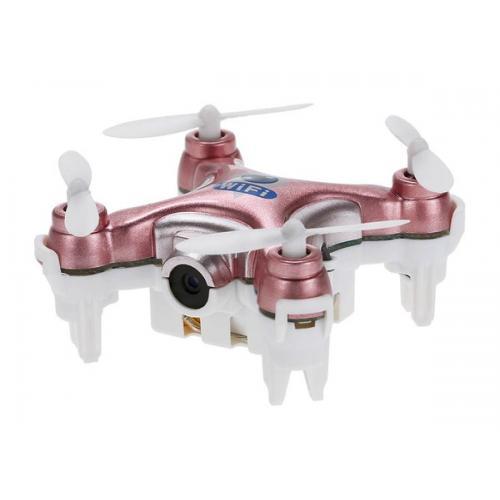 Квадрокоптер нано Wi-Fi Cheerson CX-10W с камерой (розовый) CBGames
