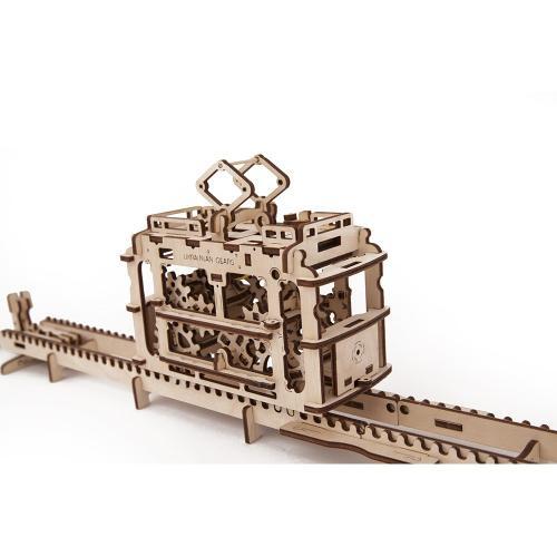 Трехмерная механическая головоломка-конструктор Трамвай (UG-009)