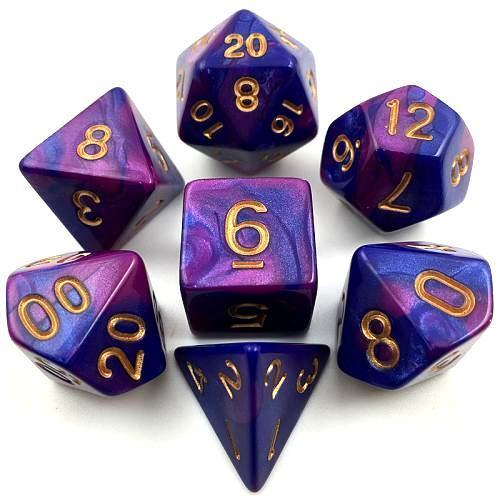 Набор Mix Color кубиков RPG 7 шт (цвет в ассортименте)