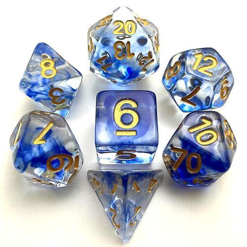Набор кубиков RPG с туманностью 7 шт (цвет в ассортименте) + ПОДАРОК
