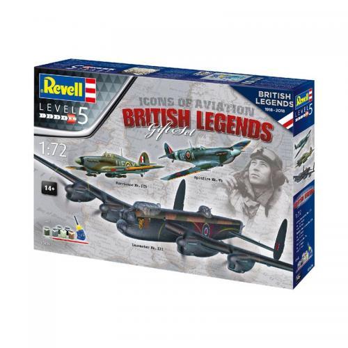Сборная модель-копия Revell набор Авиа Легенды Британии уровень 5 масштаб 1:72