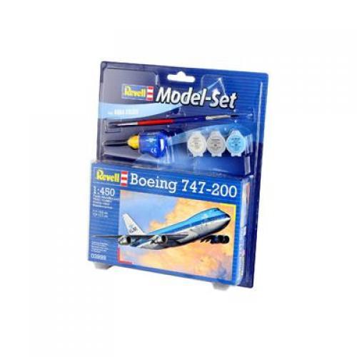 Сборная модель-копия Revell набор Пассажирский самолет Боинг 747-200 уровень 3 масштаб 1:390