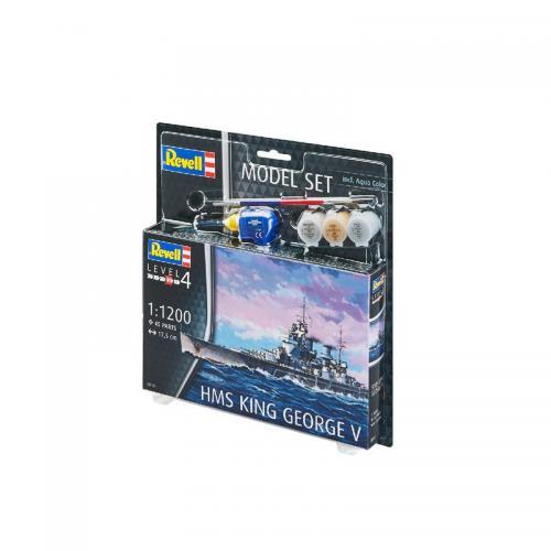Сборная модель-копия Revell набор Корабль Его Величества «Кинг Джордж V» уровень 4 масштаб 1:1200