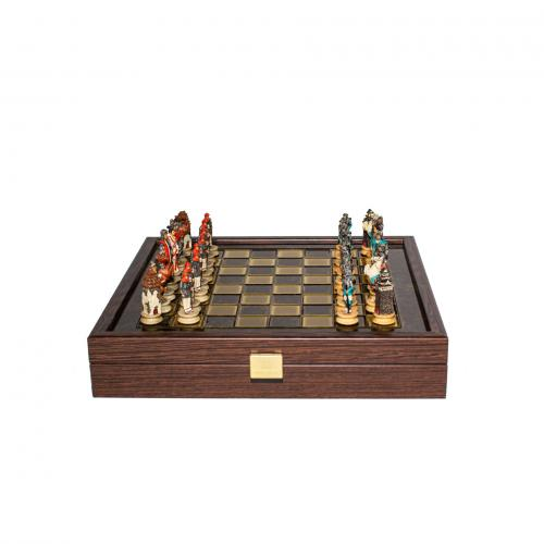 Шахматы ручной работы Manopoulos Самураи 26 см SKK27BRO