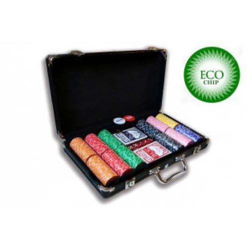 Покерный набор из глиняных фишек ECO Strip - 300