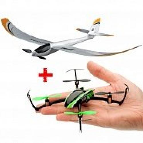 Комплект квадрокоптер Blade Nano QX и планер E-flite AS3X RTF 2,4 ГГц (BE76002980) CBGames