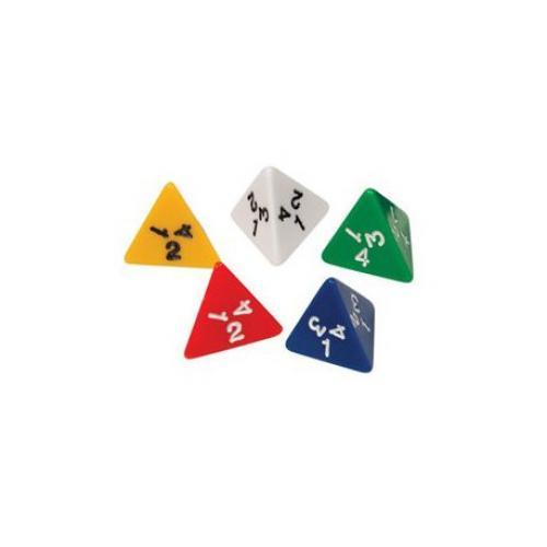 Кубик D4  (цвет в ассортименте)
