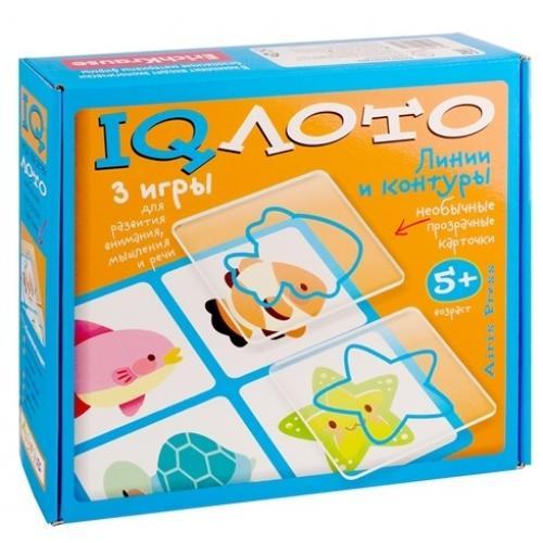 IQ лото. Линии и контуры. (5+) Комплект из трех игр (синий)