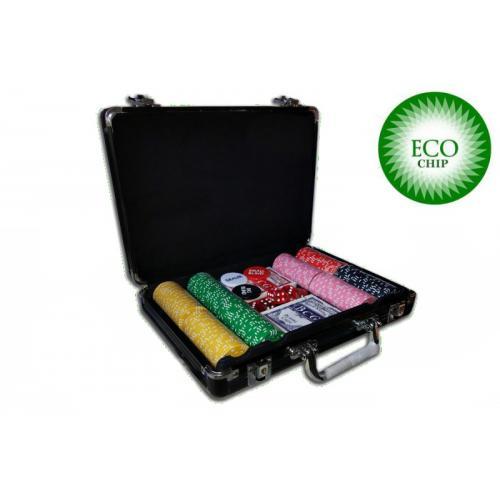 Покерный набор из глиняных фишек ECO Chip Suit - 200