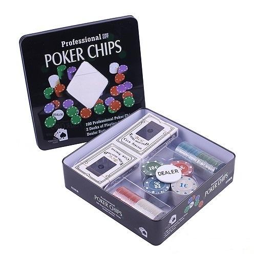 Покерный набор на 100 фишек, номинал 1-25, 4гр. (арт. TC04101N)