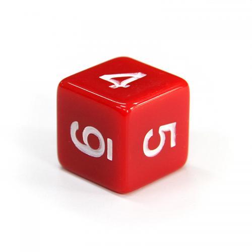 Кубик D6 с цифрами (цвет в ассортименте)