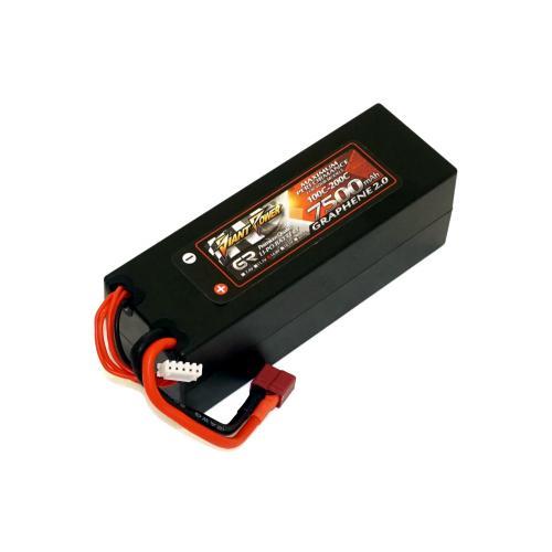 Аккумулятор Giant Power G2.0 Li-Pol 7500mAh 14.8V 4S 100C Hardcase 48x46x139 T-Plug