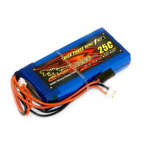 Аккумулятор Dinogy Li-Pol 2800mAh 7.4V 2S 18x45x96 для FrSky Taranis Q X7