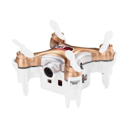 Квадрокоптер нано р/у Cheerson CX-10WD-TX с камерой Wi-Fi (бежевый) CBGames