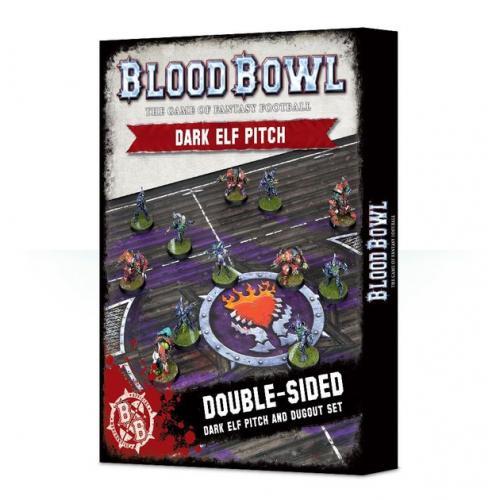 BLOOD BOWL DARK ELF PITCH & DUGOUTS