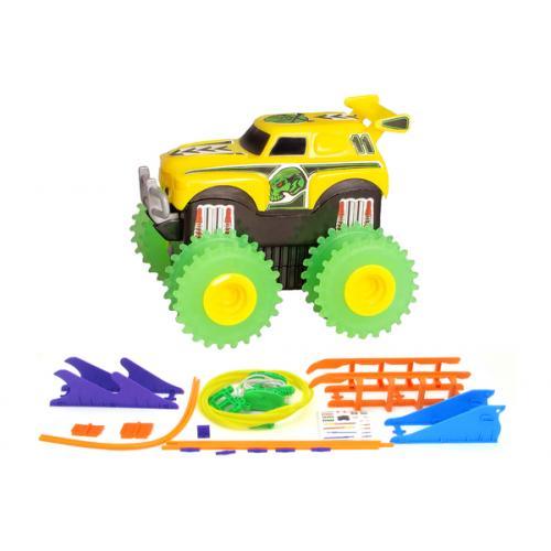 Машинка на бат. Trix Trux набор с трассой (желтый)