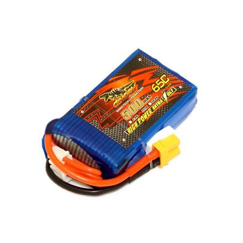 Аккумулятор Dinogy Li-Pol 500mAh 11.1V 3S 65C XT30 51.5x30x15мм