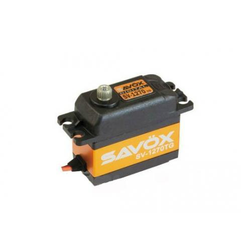 Сервопривод Savox 26-35 кг/см 0,14-0,11сек/60° 40,3х20х37,2мм 56г цифровой (SV-1270TG)