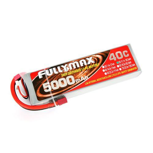 Аккумулятор Fullymax 11.1V 5000mAh Li-Po 3S 40C T-plug