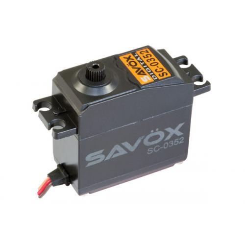 Сервопривод Savox 4,2-6,5кг/см 0,14-0,11сек/60° 40,7х20х39,4мм 42г цифровой (SC-0352)