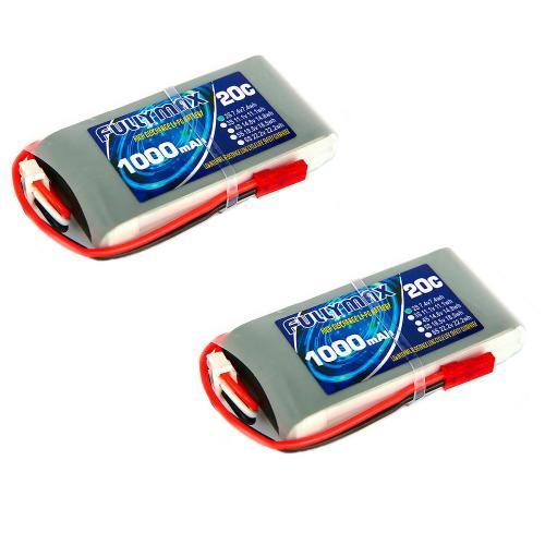 Аккумулятор Fullymax 7.4V 1000mAh Li-Po 2S 20C JST (2 шт.)