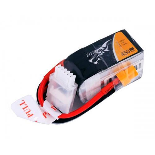 Аккумулятор Tattu LiPO 14,8В 450мАч 4S 75C 45х24х27мм 55г XT30 (TA-75C-450-4S1P)
