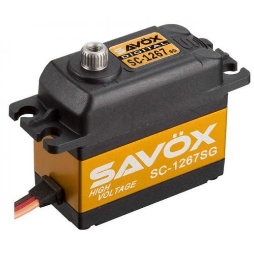 Сервопривод Savox HV 11-13-20,2 кг/см 0,14-0,11-0,095 сек/60° 40,3х20х37,2мм 62г цифровой (SC-1267SG)