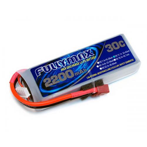 Аккумулятор Fullymax 11.1V 2200mAh Li-Po 3S 30C T-plug (для T-REX 450)