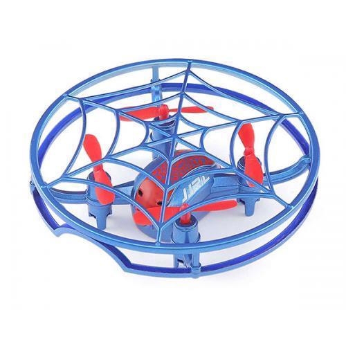 Квадрокоптер JJRC H64 Spiderman в клетке (голубой)