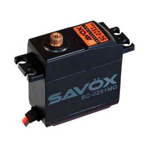 Сервопривод Savox 13-16 кг/см 0,20-0,18 сек/60° 40,7х20х42,4мм 61г цифровой (SC-0251MG)