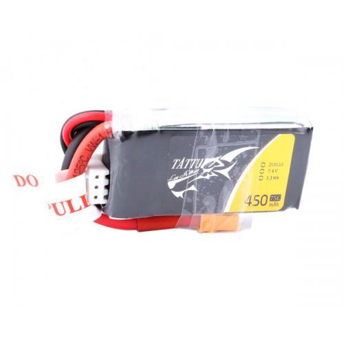 Аккумулятор Tattu LiPO 7,4В 450мАч 2S 75C 45х24х15мм 28г XT30 (TA-75C-450-2S1P)
