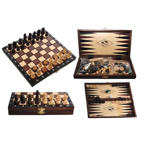 Шахматы туристические + нарды № 3181