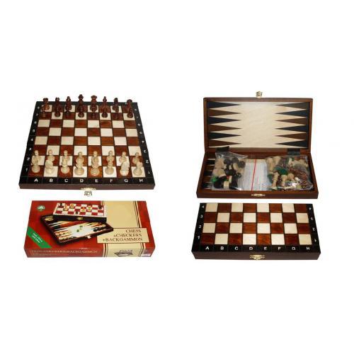 Шахматы туристические + Шашки + Нарды № 2068