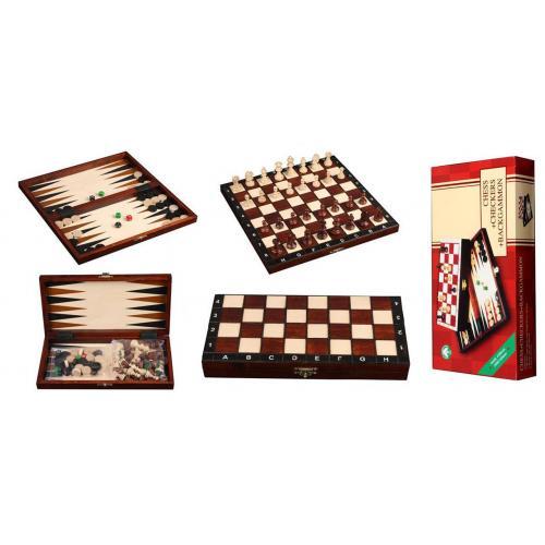 Шахматы Турнирные N4 + Шашки + Нарды № 2066